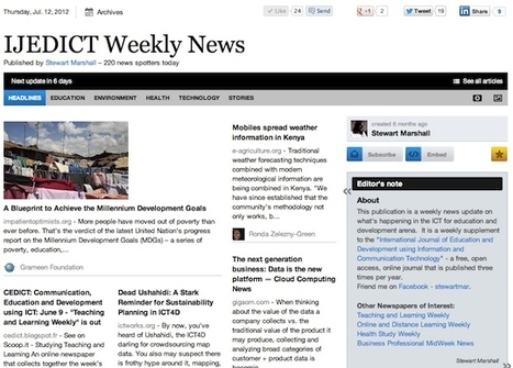 "July 12 - ""IJEDICT Weekly News"" is out 