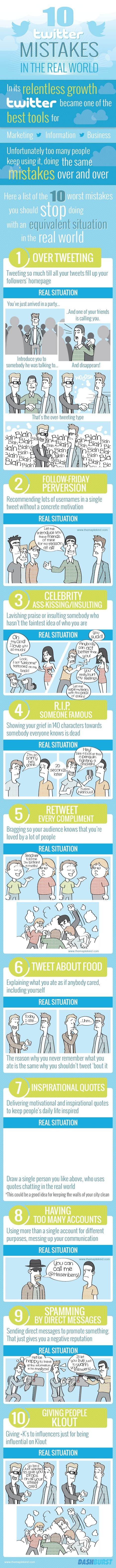 10 errores a evitar en twitter   Pedagogía y virtualidad   Scoop.it