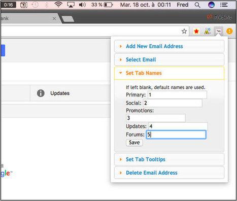 Comment renommer les onglets de Gmail comme vous le souhaitez ? | Time to Learn | Scoop.it