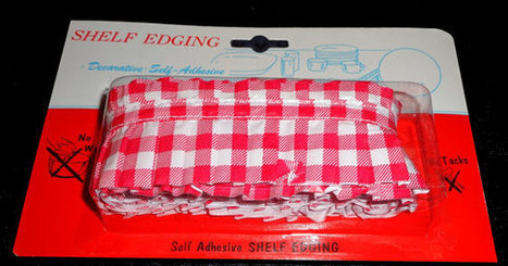 Red white Gingham Check vintage pleated shelf edging | Candy Buffet Weddings, Events, Food Station Buffets and Tea Parties | Scoop.it