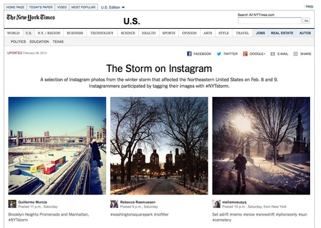 The Storm on Instagram [NYTimes] | mediated learning & digital media for professionals | Scoop.it