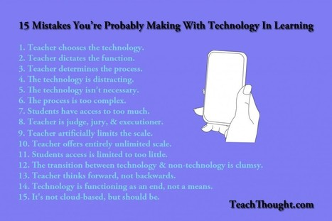 15 Mistakes You're Probably Making With Technology In Learning - TeachThought | Conduite du changement 2.0 | Scoop.it