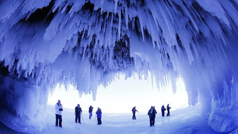 Thousands visit Lake Superior ice caves; photos are awe-inspiring | Motorhome Madness | Scoop.it