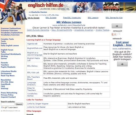 EFL/ESL sites - Learning English   21st Century Tools for Teaching-People and Learners   Scoop.it