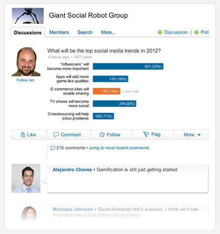 LinkedIn lauch Polls in Groups: The Easiest Way to Join the Professional Conversation | Engagement | Scoop.it
