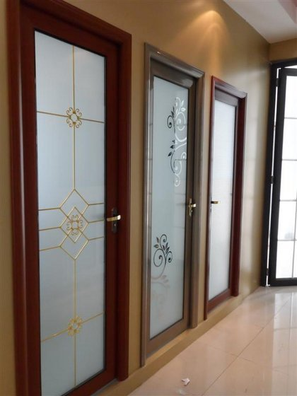 Bathroom Doors Of Aluminium Framed