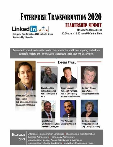 Enterprise Transformation 2020 Leadership Summit | GWTNext -GLOBAL WORKFORCE TRANSFORMATION - PAVING THE TRAIL TO THE FUTURE. | Scoop.it