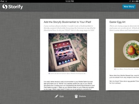 Curate Stories with NEW Storify App for iPads! | Transmediation | Scoop.it