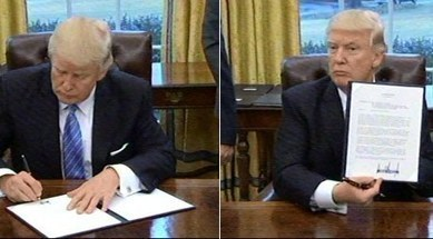 Trump Signs 3 Executive Orders: Withdraws From TPP, Freezes Federal Hiring, Limits Overseas Abortion Funding | Liberty Revolution | Scoop.it
