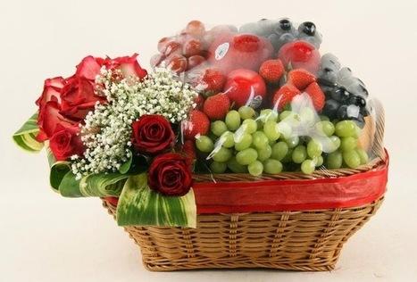 Rangkaian Parcel Bunga Dan Buah Hari Raya Idul