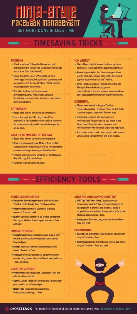 28 Time-Saving Facebook Marketing Tips [INFOGRAPHIC] - | Get to Writing | Scoop.it
