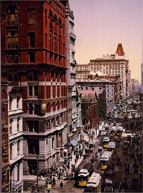 Colourised New York c.1900 | GenealoNet | Scoop.it