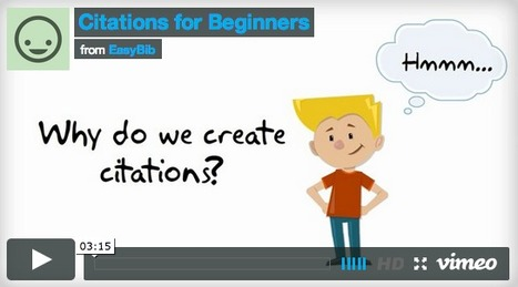 Video: Citations for Beginners   Information Literacy   Scoop.it
