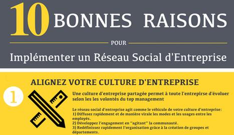 Réseau social d'entreprise : 10 raisons de s'y mettre - Parlons RH | Le Web social au service de l'entreprise | Scoop.it