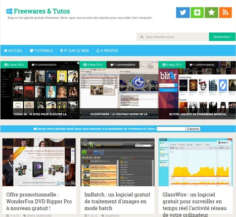 New Freewares & Tutos [A vos Bookmarks] | Time to Learn | Scoop.it