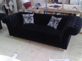 Black velvet chesterfield sofa\' in Metro Velvet Sofa Company UK ...