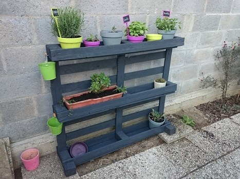 39 flowers 39 in 1001 pallets ideas - Palette pot de fleur ...