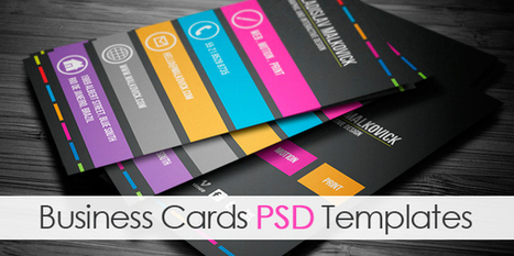 Business Cards In Design Social Media And Web Resources Scoopit - Social media business card template free