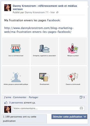 Ma frustation envers les pages Facebook | Médias sociaux | Scoop.it
