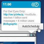 HootSuite Adds More Awesome to Hootlet with AutoSchedule | SIM Partners - Social Media | Scoop.it