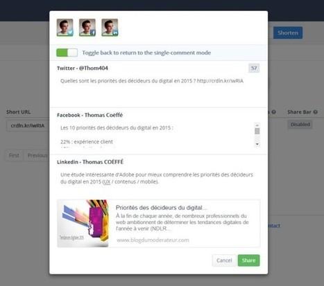 Crowdlinker, partager un lien sur plusieurs réseaux sociaux avec une accroche différente - Blog du Modérateur | Management et promotion | Scoop.it