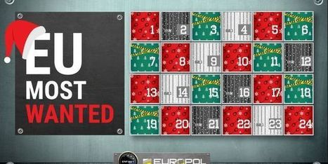 Le calendrier de l'Avent d'Europol: à chaque jour son criminel | Libertés Numériques | Scoop.it