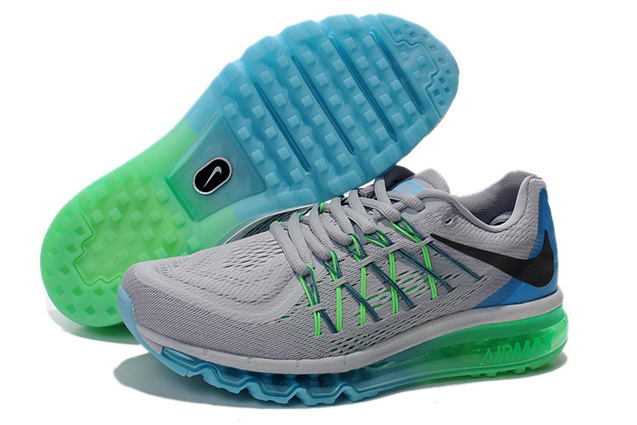 Men Nike Air Max 2015 Grey Green Sneaker,Cheap