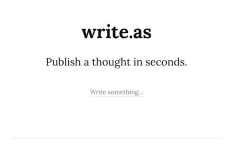 Write.as La façon la plus simple de publier un article sur le web – Les Outils Tice | outils numériques pour la pédagogie | Scoop.it
