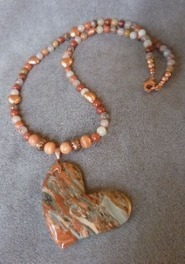 Brecciated Jasper Heart Necklace | Draped in Stone Jewelry | Scoop.it