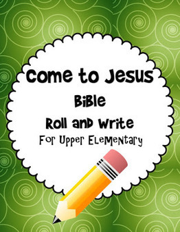 Bible Lessons for Kids: Come to Jesus Bible Roll and Write Free Printable Game | Children's Ministry Ideas | Scoop.it