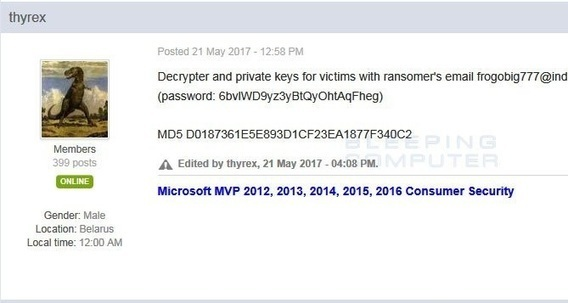 AES-NI Ransomware Dev Releases Decryption Keys