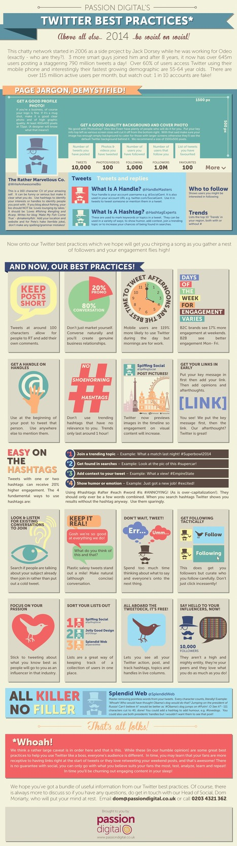 23 (Rather Marvellous) Twitter Best Practices [INFOGRAPHIC] | Better know and better use Social Media today (facebook, twitter...) | Scoop.it