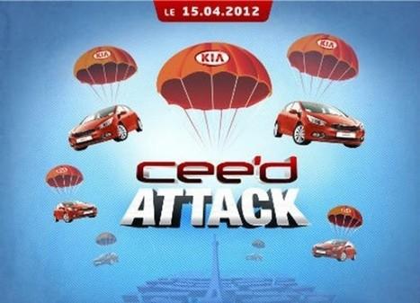Kia investit Paris avec sa Ceed'Attack | streetmarketing | Scoop.it