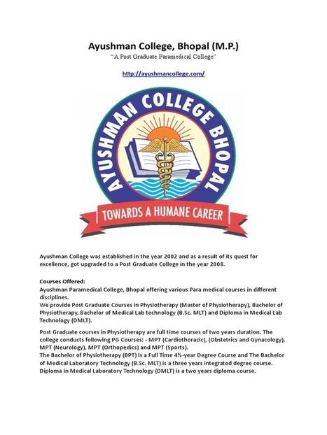 Ayushman College - A Post Graduate Paramedical ...