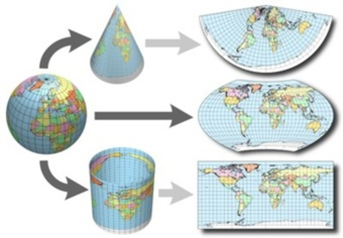 map projections definition Equal area map projections (also known as equivalent or authalic projection) represent areas correctly on the map the areas of features on the map are proportional to their areas on the reference surface of earth.