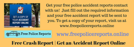 Free Crash Report - Get an Accident Report Onli