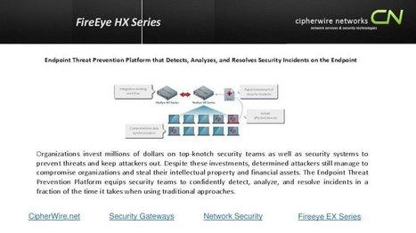 FireEye HX Series   Cipherwire Networks   Scoo