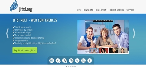 Jitsi Meet. Outil de web conférence gratuit et open source | Les outils du Web 2.0 | Scoop.it
