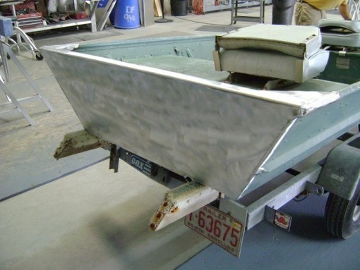 Aluminum Jon Boat Transom Rebuild | High Speed ...
