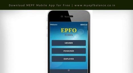 EPF Mobile App, MEPF Mobile App Download for Fr
