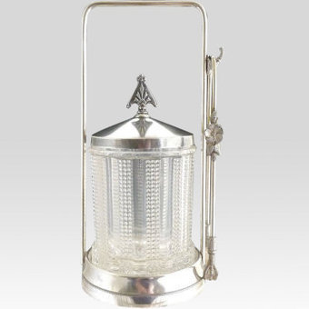 Silver pickle castor EAPG jar exclusively at Victoria's Curio | Vintage Passion | Scoop.it