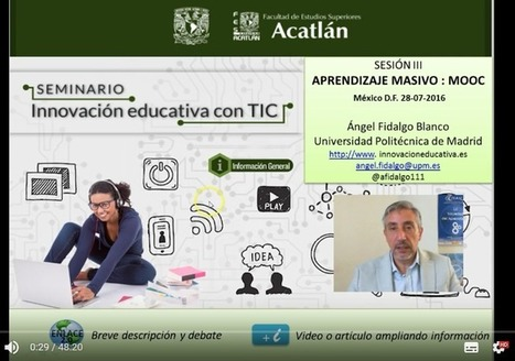 "Aprendizaje Masivo ""MOOC"". Breves y sencillas descripciones para conocer los MOOC. 