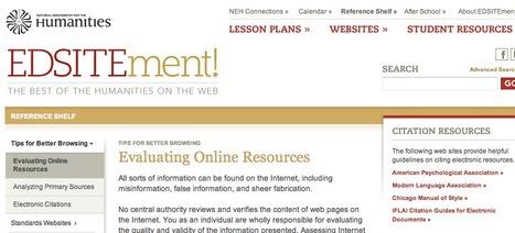 Evaluating Online Resources | EDSITEment | Adult Literacy | Scoop.it