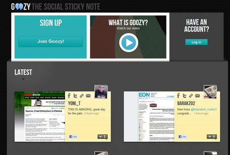 Goozy - social sticky notes | digital journalism tools and topics | Scoop.it