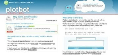 Plotbot, herramienta online de escritura de guiones de forma colaborativa   paprofes   Scoop.it