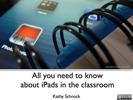 iPad Presentation Support Page - Kathy Schrock's iPads4Teaching   Edupads   Scoop.it