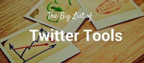 60 outils Twitter gratuits et utiles pour le Community Manager - #Arobasenet   Tout savoir sur Twitter   Scoop.it