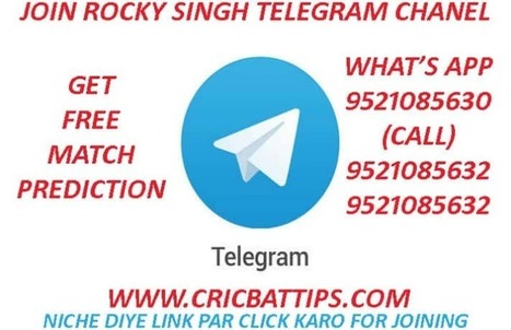 Join Telegram Channel Link - Cricket Betting Ti