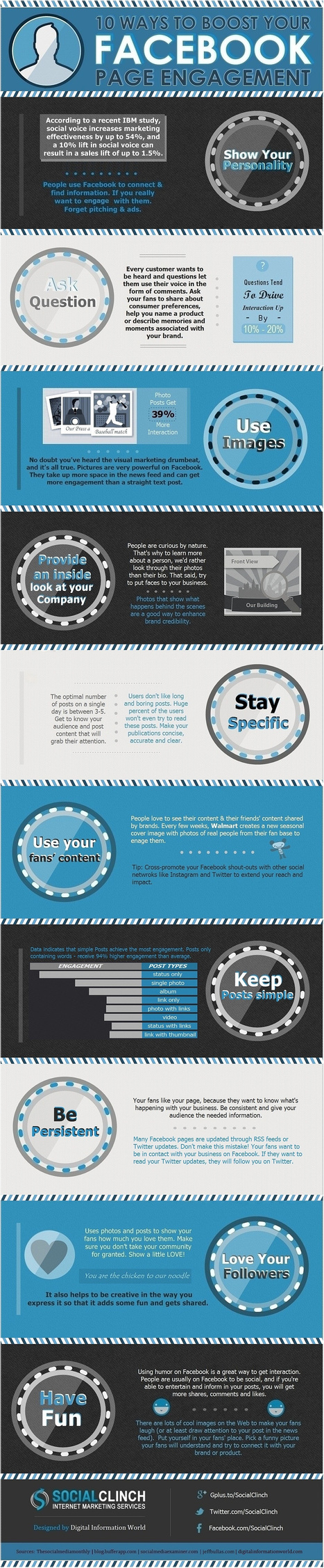 INFOGRAPHIC - 10 Ways To Boost Your Facebook Page Engagement | MarketingHits | Scoop.it