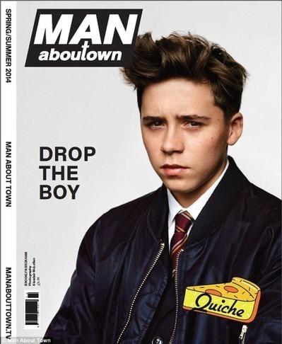 Brooklyn Beckham, figlio di David, sulla cover di #ManAboutTown - JIMI PARADISE™ | GOSSIP, NEWS & SPORT! | Scoop.it